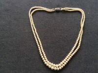Vintage Pearl Necklace Marcasite Clasp 1915-1939