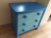 IKEA Mammut blue drawers