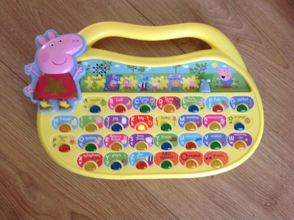 Immaculate Peppa Pig Fun Phonics interactive educational toy