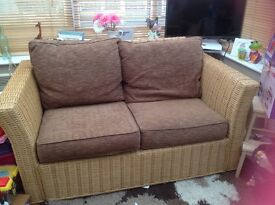 conservatory settee and a chair for sale