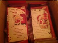 Bulk job lot of Christmas, birthday, ages, new home etc greetings cards for shop car boot card