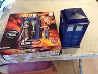 Dr who and the tardis airfix kit, partially built