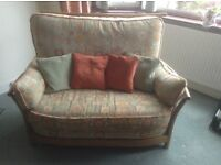 3 piece suite plus foot stool. Ercol Renaissance Picollo