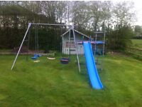 Childrens climbing frame/slide see saw/swing large