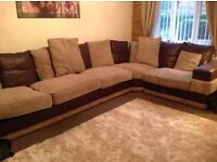 Chocolate beige corner unit as new seats 7people