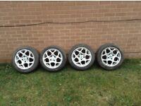 Four alloy wheels ,,all newish tyres,,come of belingo van,,,£80 ,,07745796065