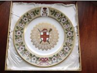 LIMITED EDITION BOXED SPODE MULBERRY HALL 'THE DUKE OF YORK' COLLECTORS PLATE IN EXCELLENT CONDITION