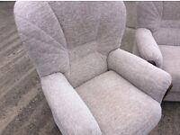 3 piece suite, cream fabric, excellent condition