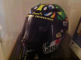 Signed Valentino Rossi genuine Moto GP helmet for sale