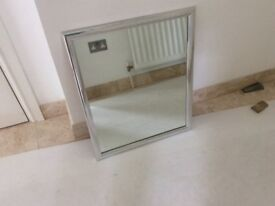 Mirror with chrome frame detail 610x510mm