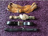 4 beautiful brand new ladies belts