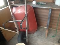 Wheel barrow in top condition has a blow up type tyre