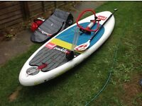 SUP Stand up paddle board Red paddle 9' 2 surfstar package used twice