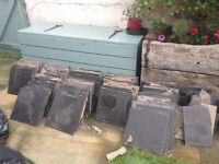 >100 slate floor tiles - cheap but need cleaning