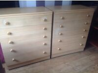 Chest of drawers pair