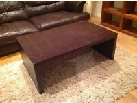 Brown leather coffee table (John Lewis)