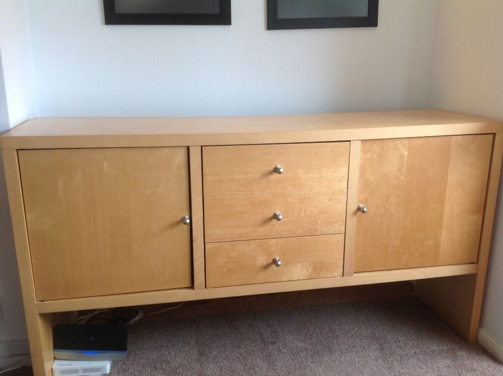 Ikea Birch Credenza : Ikea birch sideboard in muswell hill london gumtree