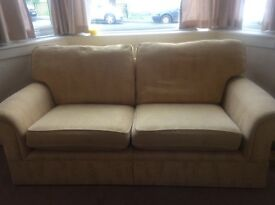 2 SOFAS + FOOT REST- MARKS & SPENCERS - VERY GOOD CONDITION - VERY COMFORTABLE