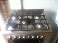 Stainless steel gas hob/electric oven