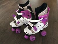 Girls adjustable quad roller skates