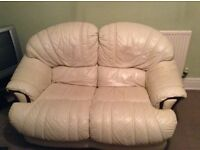 Lovely leather two seater and arm chair