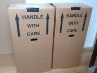 Hanging Garment storage boxes for moving house