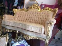 Fabulous gold rococo style sofa