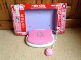 Hello Kitty' educational talking laptop age 5 years plus. Excellent condition.