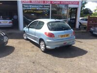 PEUGEOT 206. 56 PLATE. MOT AND TAX. £675