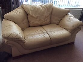 Itailian Leather 2 Seater Settee