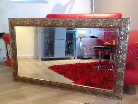 LARGE BEVILLED GLASS MIRROR
