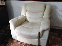 Electric faux leather recliner