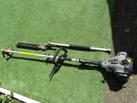 USED TTL488GDO 1.07HP 25CC BENT SHAFT PETROL 2-IN-1 GRASS&HEDGE TRIMMER