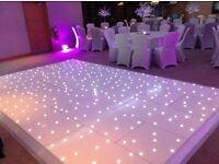Fantastic Wedding Packages including Chair Covers,Fairylight Backdrops, White LED Dance Floor