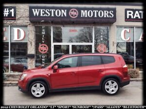 2012 Chevrolet Orlando LT*SPORT*SUNROOF*7PASS*ALLOYS*BLUETOOTH*