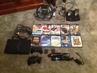 PlayStation 2 console and accessories