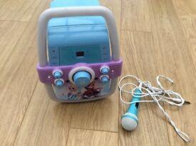 Child's frozen karaoke machine