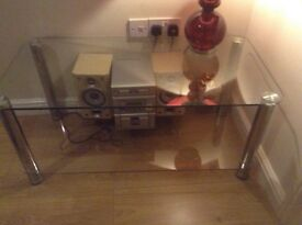 Clear glass coffee table (ONLY)