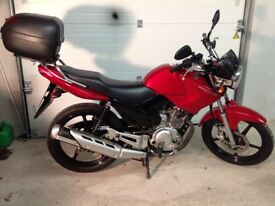 YBR 125, used as practice bike for test. Great running order. Limited use, dry miles, garaged.