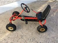BERG kids ride on pedal powered Go Cart. Red and Black. Robust construction by BERG.