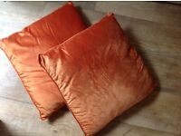 "2 x GOLD CUSHIONS 19"" x 19"", USED, Excellent CONDITION."