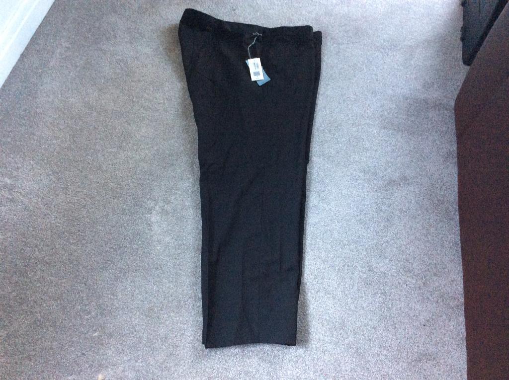 Men's new black trousers 48 waist 31 inside leg by marks,and spencer Rep £15