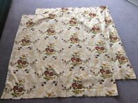 """Pair of Curtains 52"""" x 54"""" pencil pleat floral"""