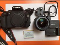 Canon 600D Digital Camera with 18-55mm lens