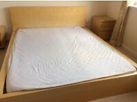 Kingsize Ikea bed frame & mattress
