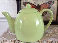 Vintage Pale Green Large Tea Pot.