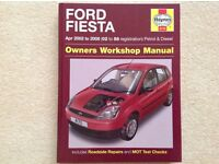 Haynes Manual 4170 Ford Fiesta April 2002-2008 (02-58 reg)