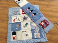 Little soldier cot duvet and bumper