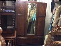 ***REDUCED*** mirror fronted vintage wardrobe