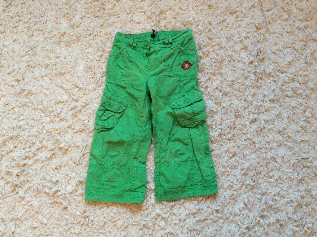 Girls cargo trousers, George 3-4, good condition